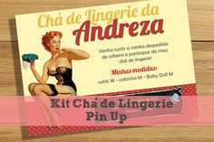Kit Chá de Lingerie Pin-Up   Download Grátis