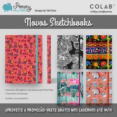 Novos Sketchbooks da POMMY NEW YORK à venda no Brasil. Aproveite a promoção de Frete Grátis até amanhã! Compre online: https://www.colab55.com/@pommy/sketchbooks