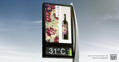 Carteles diseñados para la promoción de los vinos de Grace´s Harvest en el mercado Asiático.