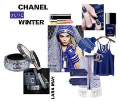 """CHANEL BLUE WINTER"" by laramay5 on Polyvore featuring Bazar Deluxe, Ted Baker, Mammut and Chanel"