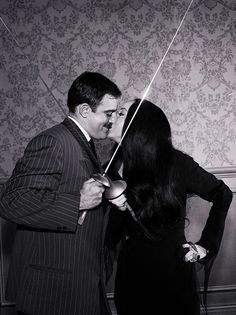 John Astin as Gomez Addams, Carolyn Jones as Morticia Addams in The Addams Family The Addams Family 1964, Addams Family Tv Show, Addams Family Characters, Adams Family, Morticia Addams, Gomez And Morticia, Billie Eilish, Los Addams, John Astin