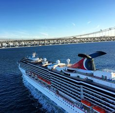 Running high above this @carnival cruise ship as it slips beneath the bridge on its way to Baltimore. by wheresandrew