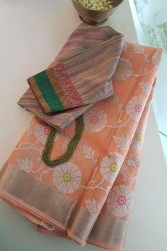 Vintage Flower Girls, Fashion Displays, Kota Sarees, Stylish Sarees, Buy Sarees Online, Rakhi, Saree Styles, Beautiful Saree, Cotton Silk