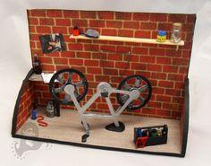 Miniature bike workshop.