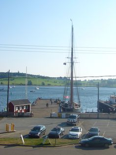Bluenose II at rest in her home berth in Lunenburg Harbour