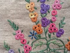 Beautiful Early Vintage Embroidered Linen Cosy