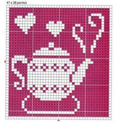 Resultado de imagem para stacked teacups perler