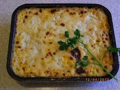 Bechamel Pasta (مكرونة بالبشاميل ), its originally made with cooked penne pasta covered with spiced ground beef and a pool of bechamel sauce.