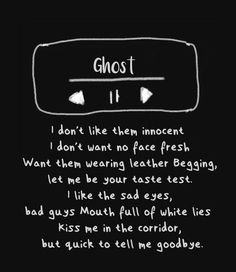 Ghost - Halsey lyrics