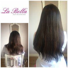 """3/4 head 20"""" Gorgeous European Hair with our tiny hand made La Bella Nano Tips £395 - perfect example of adding a little length / thickness and Colour! #hairextensionsnottingham #nanoringsnottingham #hairextensionsessex #hairextensionskent #hairextensionslondon #hairextensionssurrey #hairblog #mobilehairextensions #hairextensionsuk #hairbloggers #longhair #nanoringsuk #labellahairextensions #brunette"""