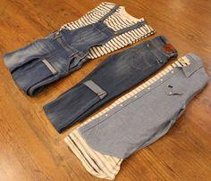 LEE layout  Femme : Salopette + marinière, un style parfait pour le retour des beaux jours !   Homme : Chemise + marinière + jean, Urbain & décontracté