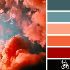 Fiery Sunset // Explore the beautiful colors of the sky with these 25 color palettes inspired by spectacular skies and PANTONE's 2020 Color of the Year, Classic Blue. Check out these 25 color palettes Color Schemes Colour Palettes, Colour Pallette, Color Combos, Burgundy Colour Palette, Orange Color Schemes, Orange Color Palettes, Pantone Colour Palettes, Color Palate, Beautiful Color Combinations