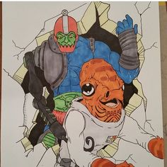 """""""IT'S A TRAP....JAW!"""" New artwork from @zombeighty1! And don't forget to check out our #MastersOfTheUniverse #contest for your chance to win one of two #HeMan hardcover art books! Click the link in our bio for multiple ways to enter!  #SundayFunnies #MOTU #TrapJaw #AdmiralAckbar #ItsATrap #StarWars"""