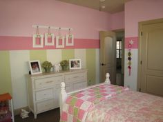 Girls room - adore pink and green together