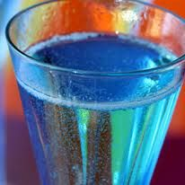 Blue Champagne cocktail!