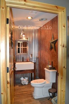 Old Blue Silo: Barnhouse Tour: Barn Inspired Half Bath