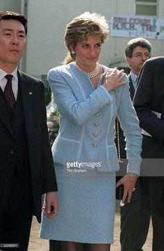 February 08, 1995: Diana, Princess Of Wales, At The Umeda Akebone School In Tokyo, Japan.