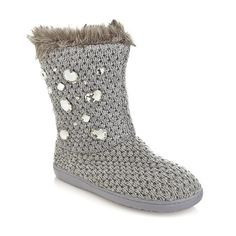 Joan Boyce Woven Faux Fur Lined Boot with Jewels at HSN.com at HSN.com