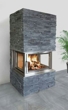 l-shaped gas fireplace insert - Google Search …   Pinteres…