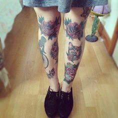 Old School Tattoo legs