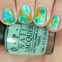 Paint All The Nails Presents Watercolor   Peachy Polish