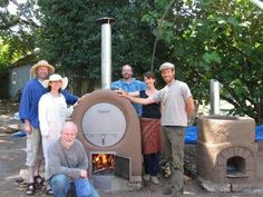 cob barrel oven & rocket stove (?)