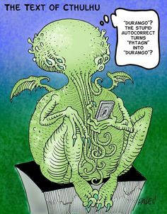 Art Text of Cthulhu Lovecraft Cthulhu, Hp Lovecraft, Yog Sothoth, Lovecraftian Horror, Eldritch Horror, Call Of Cthulhu, Geek Humor, Geek Out, Weird And Wonderful
