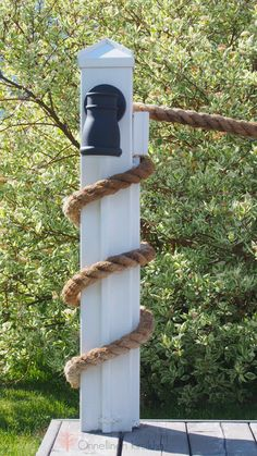 Rope fence, nautical terrace deck