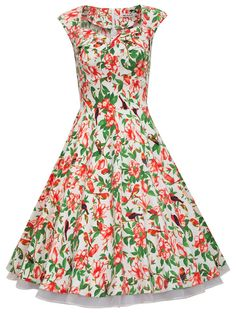Amazon.com: MUXXN® Women 1950s Vintage Retro Capshoulder Party Swing Dress: Clothing