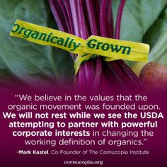 20 organic farm and consumer groups filed a legal petition with U.S. Secretary of Agriculture Tom Vilsack to protect the authority and permanence of the National Organic Standards Board (NOSB). Learn more: http://www.cornucopia.org/2014/06/citizen-groups-challenge-usdas-power-grab-threatening-organic-integrity #USDA #organicfood #organic #NOSB