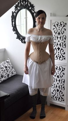 Maybe try this corset style for Cinders? Before the Automobile: gusseted 1870's corset