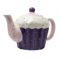 teapot and sweet desserts Perfect Cup Of Tea, Tea For One, Clay Teapots, Teapots And Cups, Teapots Unique, Mad Hatter Tea, Chocolate Pots, Pink, Purple