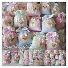 can be gift bags or sachets for your guests to take home. Hobbies And Crafts, Crafts For Kids, Diy Crafts, Felt Crafts Patterns, Fabric Crafts, Baby Shower Favors, Shower Party, Teddy Bear Party, Baby Shawer