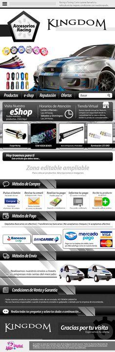 Cliente: Kingdom / Plantilla editable Mercadolibre / Propiedad Idea Digital / 2014 / #Mercadolibre #Design #Graphicdesign #diseño #diseñográfico #Ventas #creative #art #business #marketing #ideadigital