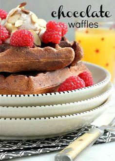 Dessert or a Decadent Breakfast?  CHOCOLATE WAFFLES!!!