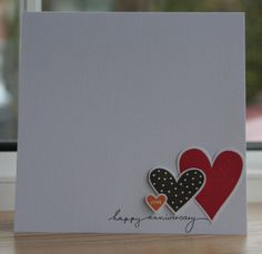 Handmade anniversary card anniversary engagement wife husband simple but very effective anniversary card thecheapjerseys Image collections