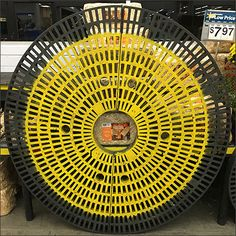 These yellow spray painted Circular Dunnage Racks have been a Fall theme at Walmarts across at least 2 states; Pennsylvania and New Jersey. Having toured 8 separate stores on one recent business tr… Yellow Spray Paint, Autumn Theme, Visual Merchandising, Pennsylvania, At Least, Retail, Indoor, Fall, Separate