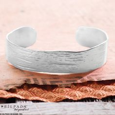Classic and organic, this substantial Cuff is enough to make a big style statement. | #SterlingSilver #WomensFashion