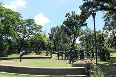 Life-size diorama of Rizal's execution built on the very site where it happened. Emilio Aguinaldo, Fort Santiago, Jose Rizal, Filipino Culture, Bataan, American War, Spanish Colonial, Manila, Diorama