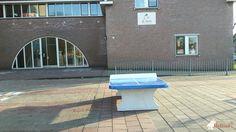 Pingpongtafel Afgerond Blauw bij Montessorischool De Mare in Rotterdam