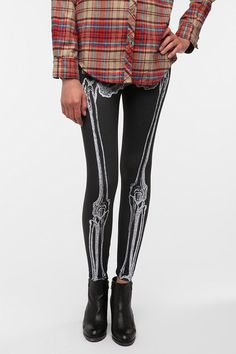 Skeleton Legging #halloween #skeleton #costume #urbanoutfitters