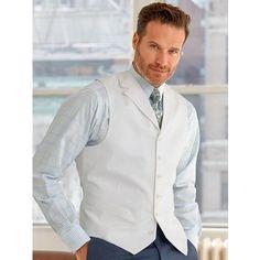 Cotton Six-Button Notch Lapel Solid Pincord Vest Summer 2016 Trends, Smart Styles, Fall Winter 2014, Business Attire, Dress Outfits, Graduation, Vest, Menswear, Shirt Dress