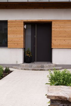 The current global health architecture does not represent this ideal. Modern Entrance, House Entrance, Architecture Résidentielle, Modern Garage, Home Pictures, House Painting, House Design, Diy, Double Doors