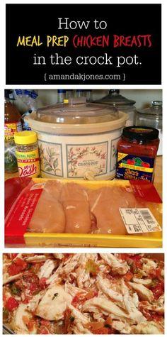 How to Meal Prep Chicken in the Crock Pot #mealprep #mealprepping #crockpot