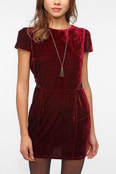 Sparkle and Fade Velvet Puff Sleeve Dress $69.00 I WANTTTTTT @ Urban Outfitters
