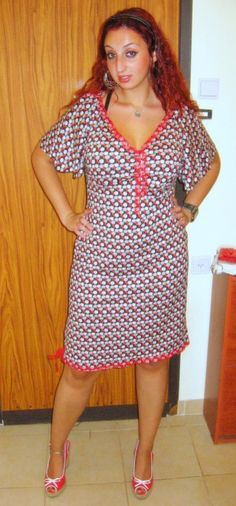 ** GRAY BLACK AND RED ** fun new dress - UPDTAE - now with TUTORIAL added !!! - CLOTHING