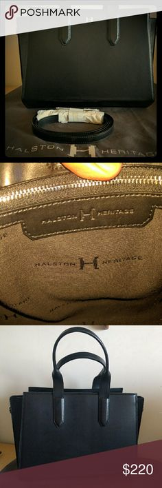 Authentic Halston Heritage handbag Excellent condition, very minimal to no signs of wear.  Got it as a gift, used it maybe twice. Halston Heritage Bags Shoulder Bags