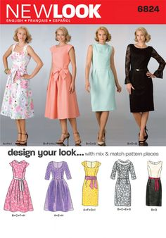 New Look 6824 Misses Dress Sewing Pattern