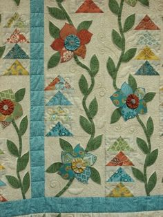 """Garden Vines""  Indian Vine,Leslie Price,Painted Pony 'n Quilts"