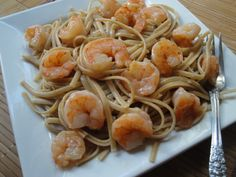 SHRIMP CAJUN PASTA   Butter Pam Garlic 1 large clove  Shrimp 16/17 Black fish season 1/4 tsp Garlic- chile Season salt 1/4 tsp Season salt 1/4 tsp Rotel 1 can rinsed and drained well Alfredo sauce 1/2 jar or so  Salt pepper to taste  Spaghetti 1/2 -1 pound   serve immediately with garlic knots.